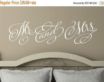 20% OFF Mr. and  Mrs -Vinyl Lettering wall decals words wedding gift family friends decal graphics sticker love bedroom Home decor itswritte