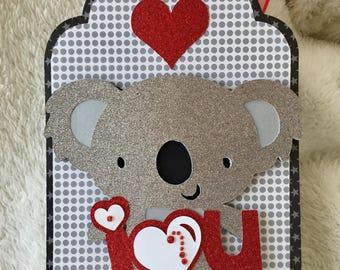 I Love You Koala Extra Large Gift Tag