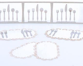 1:24 Silverware set with Placemats NEW!!