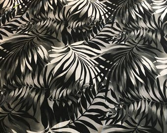 Lycra Fabric Remnant Hawaiian Leaves Floral Print Lycra Swimwear Fabric Crafts Sewing YR59B