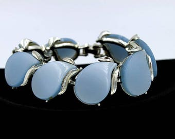 Blue Thermoset Bracelet, ca. 1950s