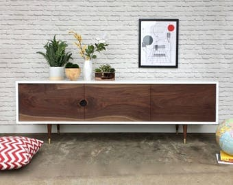 Rochdale Credenza / Media Console  - Walnut Single Slab Doors