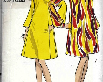 Vogue 7207 Vintage 1960s Mad Men Flared Semi Fitted DRESS Sewing Pattern Size 14 Bust 34