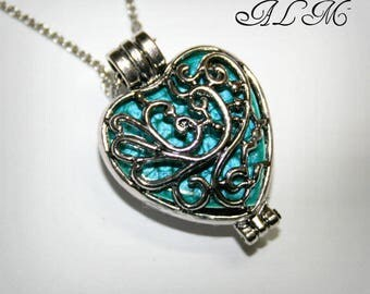 Photo (Pturquoise) heart pendant