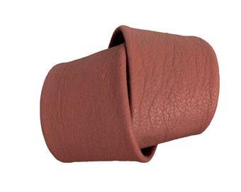 Chunky leather bracelet - Tobacco Goatskin cuff - Wrap bracelet - Leather wrap cuff - Double wrap cuff - Brown leather cuff - Rust Brown