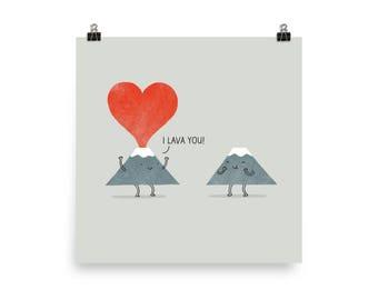 I Lava You - Art Print