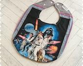 Star Wars Recycled T-Shirt Baby Bib, Baby Boy Baby Shower Gift, Luke Skywalker, Darth Vader, Yoda