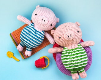 Piglet on holiday | amigurumi pattern