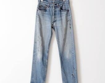 Levis 501 jeans, vintage 501s, 30 x 31