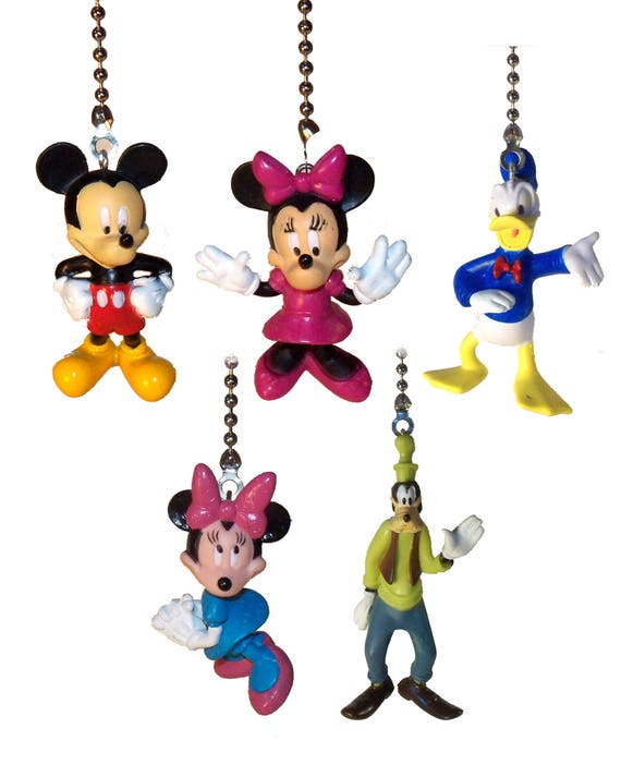 Mickey mouse clubhouse ceiling fan light pull nursery decor like this item aloadofball Choice Image