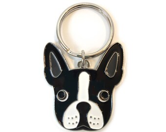 Boston Terrier Pendant Key Chain for Home or Car, Gift for Boston Terrier Owners or Lovers of the Breed