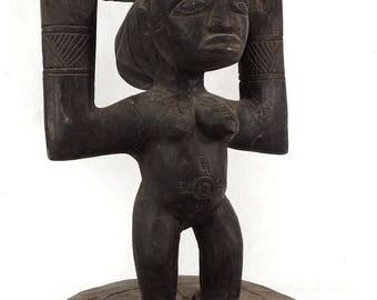 Hemba Stool Female Caryatid Congo African Art 114820