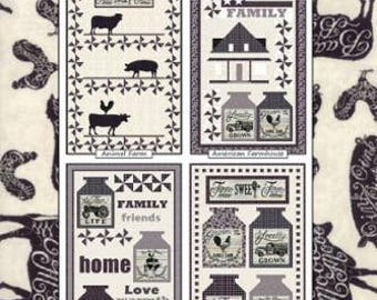 Homegrown Banners Quilt Pattern by Coach House Designs - for use with Homegrown Panel by Deb Strain