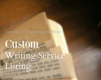 Reserved for G. - Custom Editing Service