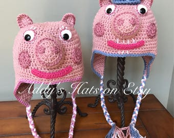 Peppa's Granny and Grandpa Pig inspired hat. You choose design and size