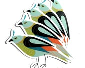 Birdie Sticker - Die Cut  - Fun - Cute - Gift - Extra - Bird