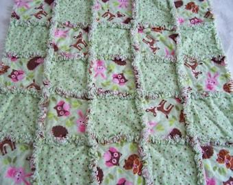 Newborn rag quilt - newborn rag blanket - baby rag blanket - baby rag qult - baby blanket - nursing rag blanket - baby cuddle blanket