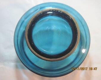 """Vintage Glass Canister Jar  Lid 6"""" Diameter"""