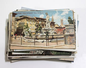100 Vintage Europe Travel Unused Postcards Blank -  Unique Travel Wedding Guest Book, Reception Decor, Travel Journal Supplies