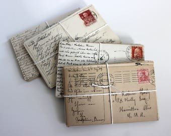 SALE INTERNATIONAL Postcard Craft Pack - 25 Postmarked, Stamped and Written on Postcards