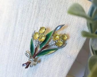1940s Flower Bouquet Brooch unsigned Coro