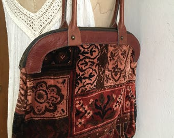 Amazing Vintage Carpet Bag Bohemian Hippie