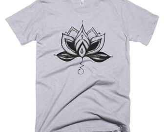 Lotus Flower T Shirt, Lotus Flower Clothing, Bohemian Clothing, Boho Clothing, Spiritual Clothing, T Shirts Women, Lotus Top Hippie Clothing