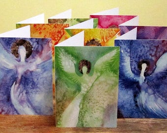 Angel Watercolor Holiday Cards