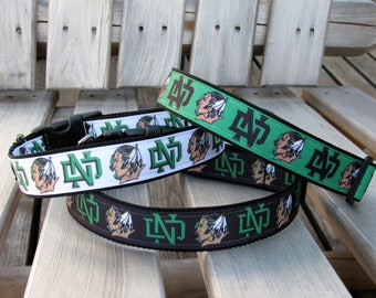 Sioux Forever  Adjustable Dog Collar, in Green, Black and White
