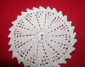 Vintage Hand Crocheted Doily- 5.25 inch