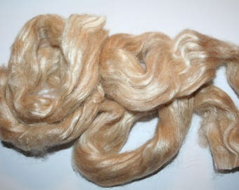 Silk and Camel Hair Roving- 14 grams