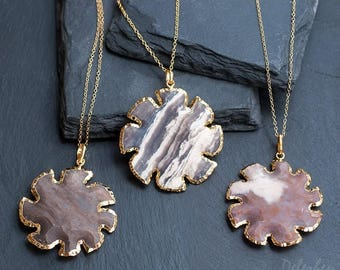 40 OFF - Jasper Stone Sun Pendant - Sun Necklace - Tribal Sun - Layering Necklace - Bohemian Necklace - Boho Hippie Chic Necklace