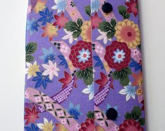 Handbound Sketchbook with Vintage Japanese Fabric Cover - OOAK