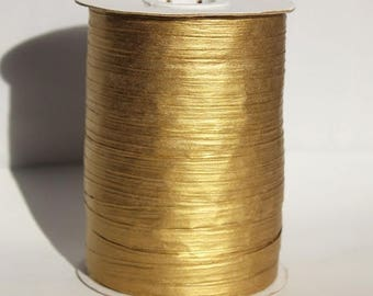 GLAMSALE Gold Metallic Raffia Ribbon for Wedding Favors, Gift Wrapping and Packaging