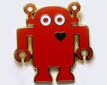 Giant Robot - Big Boss Robot Enamel Pin - Lapel Pin - Robot Pin - Robots