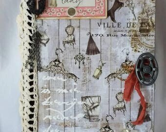 Victorian/Shabby Chic Style Handcrafted Hardcover Junk Journal