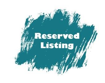 Reserved Listing for Debbie