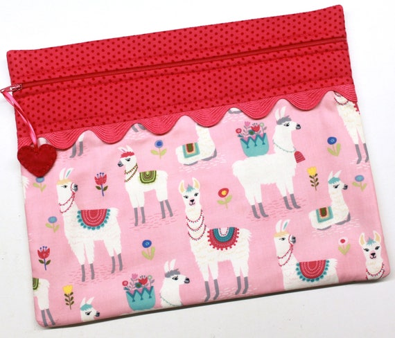 Lovely Llamas Cross Stitch Embroidery Project Bag
