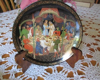 Porcelain Russian Fairytale Collector Plate The Wedding Feast