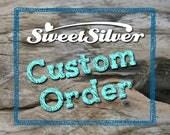 CUSTOM ORDER for Amanda: Additional Name/Date charm and birthstone