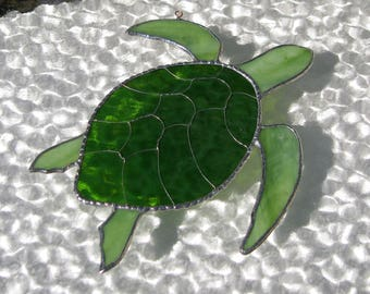 Sea Turtle- stained glass sun catcher