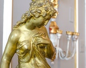 Antique FRENCH Statue, Psyche, Moreau, France, Spelter