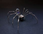 Clockwork Spider Sculpture No 88 Recycled Watch Parts Clockwork Arachnid Figurine Stems Lightbulb Arthropod A Mechanical Mind Gershenson
