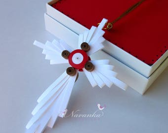 Paper Quilling Cross Ornament in a gift box, Quilled Cross in a box, Baptism Gift, Christening gift, Gift for Choir Members