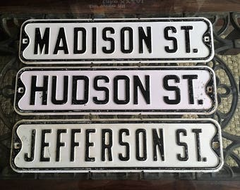 AWESOME OLD Street Signs Great Vintage And Antique Not too Rusty !