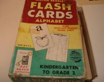 Vintage Flash Cards Alphabet Set