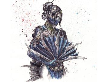 Mortal Kombat Kitana Art Print