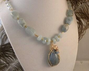 Aquamarine with Gold