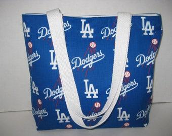 LA Dodgers Baseball Team Medium Tote