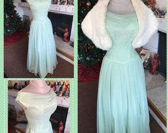 40s Tulle Ball Gown